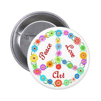 Peace Love Art Pin