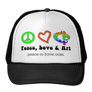 Peace, Love & Art Signs Hat