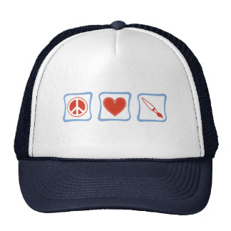 Peace Love Artists Squares Cap
