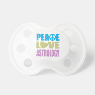 Peace Love Astrology Baby Pacifier