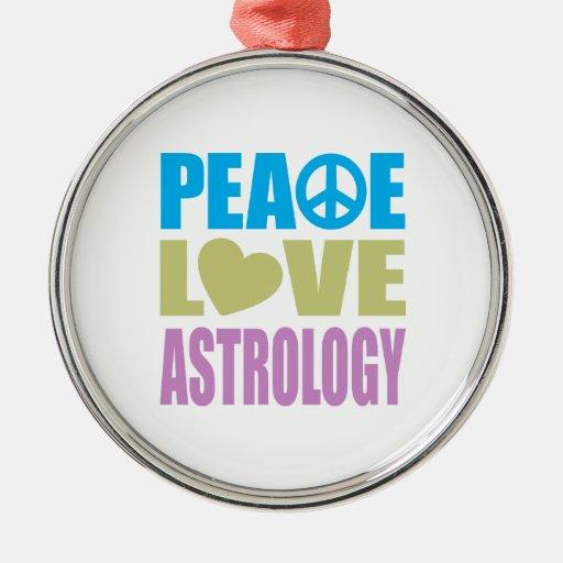 Peace Love Astrology Christmas Ornaments