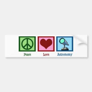 Peace Love Astronomy Bumper Sticker