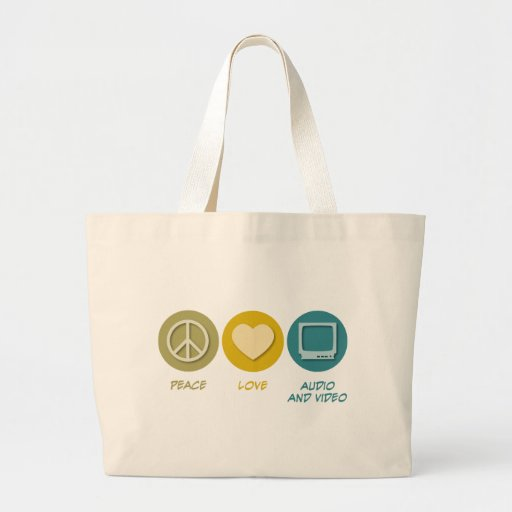 Peace Love Audio and Video Bags