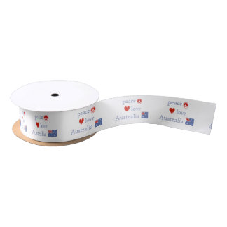 Peace Love Australia Satin Ribbon