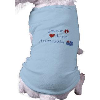 Peace Love Australia Sleeveless Dog Shirt