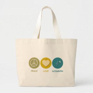 Peace Love Autographs Bags