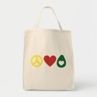Peace, Love Avocado Tote