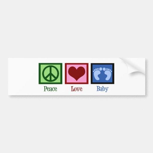 Peace Love Baby Boy Bumper Sticker