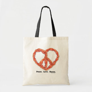 Peace. Love. Bacon. Tote Bag