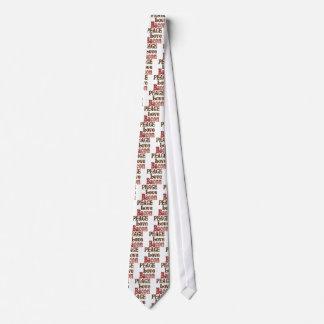 Peace Love Bacon Tie