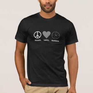 Peace. Love. Bagels. Dark T-Shirt