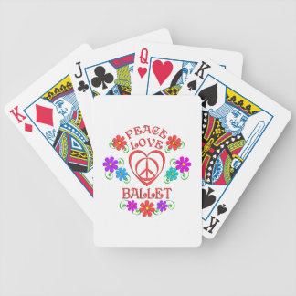 Peace Love Ballet Bicycle Playing Cards