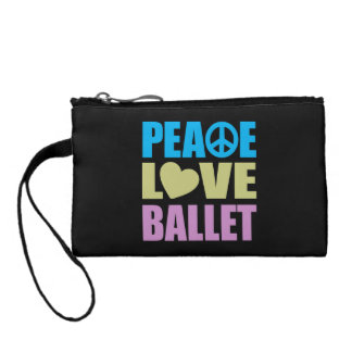 Peace Love Ballet Coin Purses