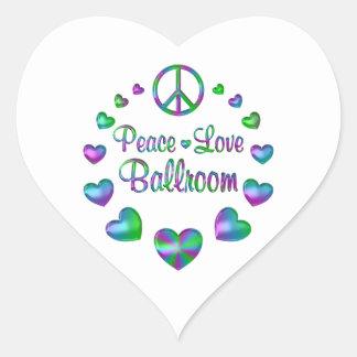 Peace Love Ballroom Heart Sticker