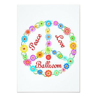 Peace Love Ballroom 13 Cm X 18 Cm Invitation Card