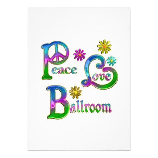 Peace Love Ballroom Cards