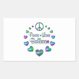Peace Love Ballroom Rectangular Sticker