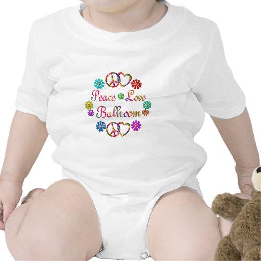 PEACE LOVE BALLROOM BABY BODYSUIT
