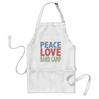 Peace Love Band Camp Adult Apron
