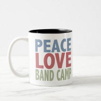 Peace Love Band Camp Coffee Mug