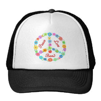 Peace Love Band Trucker Hat