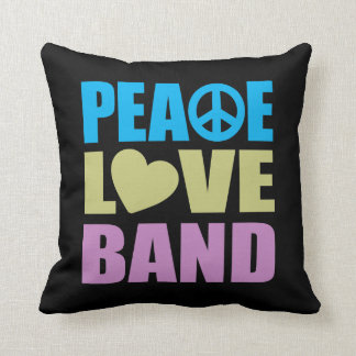 Peace Love Band Cushion