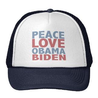 Peace Love Barack Obama Joe Biden Cap