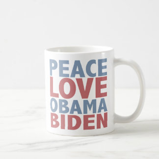 Peace Love Barack Obama Joe Biden Coffee Mug