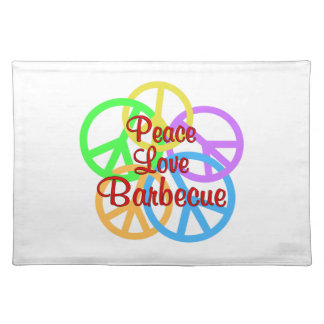 Peace Love Barbecue Placemat
