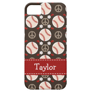 Peace Love Baseball Barely There iPhone 5 Case