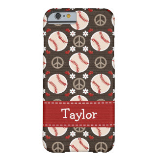 Peace Love Baseball Barely There iPhone 6 Case