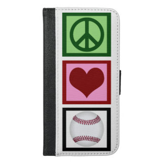 Peace Love Baseball iPhone 6/6s Plus Wallet Case