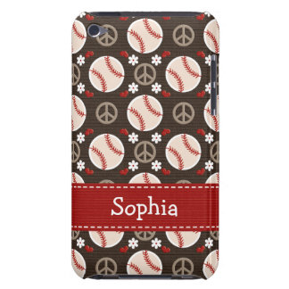 Peace Love Baseball iPod Touch Case Mate Cover 4g