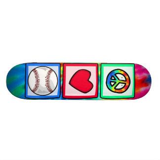 Peace, Love, Baseball Skate Board