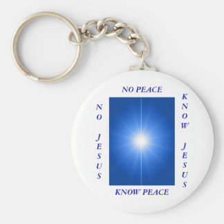 PEACE & LOVE BASIC ROUND BUTTON KEY RING