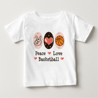 Peace Love Basketball Baby T-shirt
