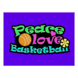 Peace, Love, Basketball; Retro Posters
