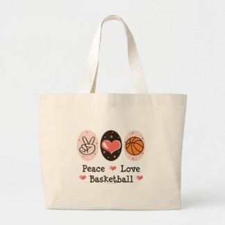 Peace Love Basketball Tote Bag