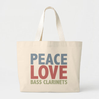 Peace Love Bass Clarinets Tote Bag