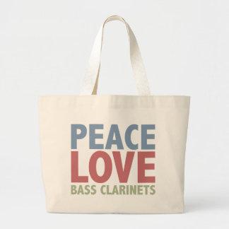 Peace Love Bass Clarinets Jumbo Tote Bag