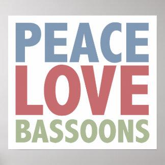 Peace Love Bassoons Print