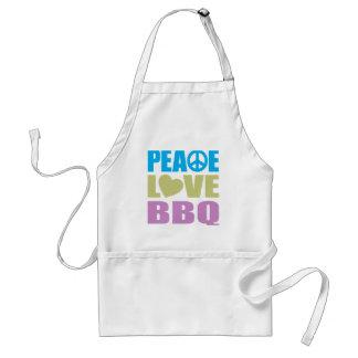 Peace Love BBQ Aprons
