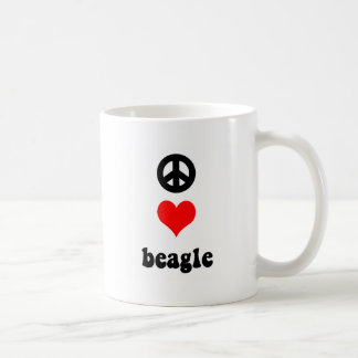 Peace love Beagle Coffee Mug