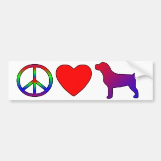Peace Love Beagles Bumper Sticker