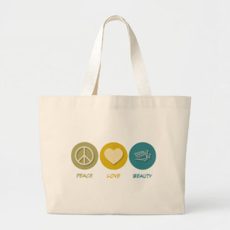 Peace Love Beauty Large Tote Bag