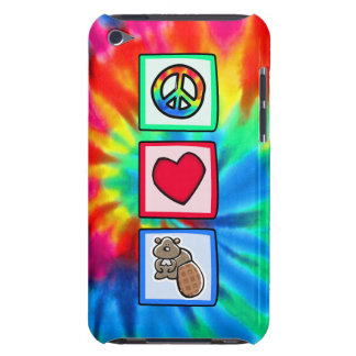 Peace Love Beavers Barely There iPod Case