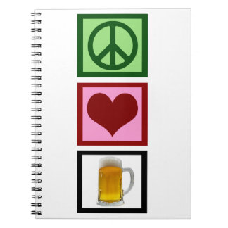 Peace Love Beer Notebook