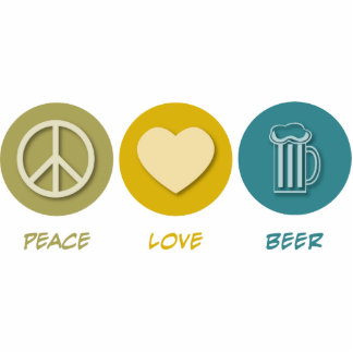 Peace Love Beer Photo Sculpture Decoration