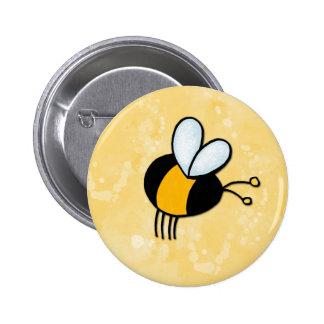 peace love bees 6 cm round badge