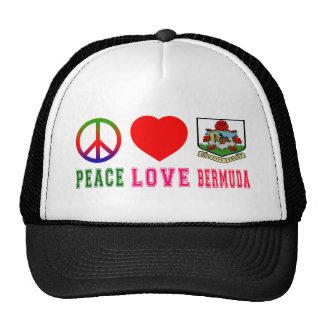 Peace Love Bermuda Cap